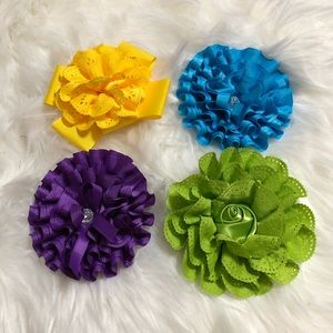 Set of 4 Hair Bows for Women!!!
